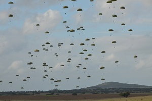 paratroopers specific unit landing
