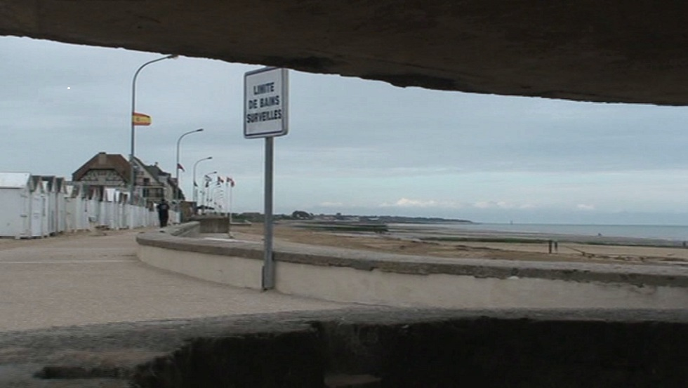 D Day Tours Normandy Landing Beaches Juno Beach. View from bunker defensive position