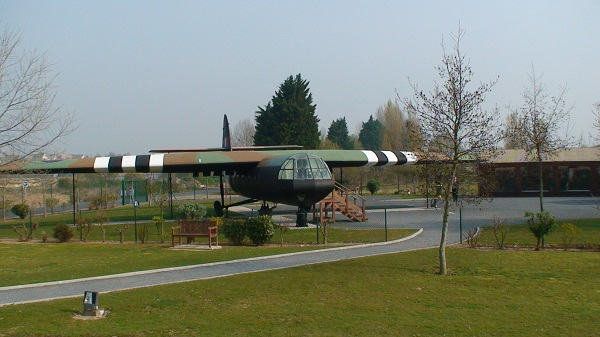 One of the Horsa Gliders used in the daring raid on the Pegasus Bridge at the start of Operation Overlord. Now part of the Pegasus Memorial