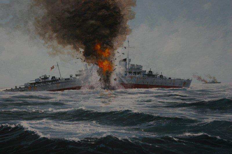 Battle for the Barents Sea German Destroyer Friedrich Eckold