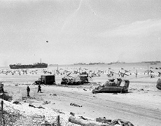 D Day landing beaches Normandy Omaha Beach Afternoon June 6 1944