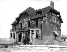 D Day landings Normandy. The first house in France to be liberated.