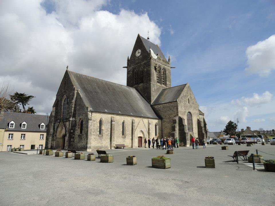 D Day Paratroopers F Company 505th PIR 82nd Airborne Division St Mere Eglise Church and Square Normandy