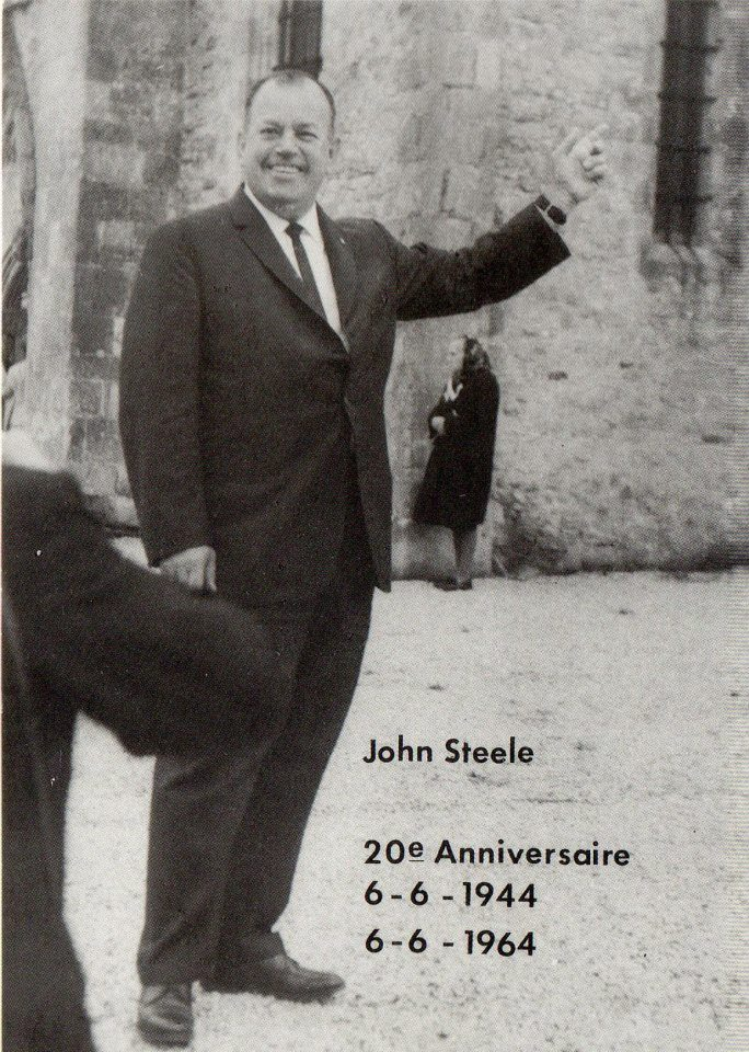 John Steele returns to St Mere Eglise in 1964. He died in 1969 at the age of 57years