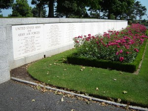 The retaining wall of the US St James Cemetery is inscribed with the names of the missing
