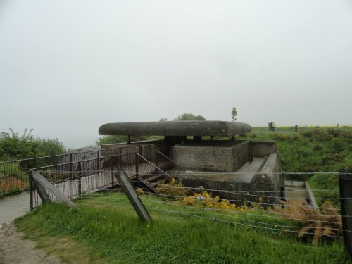 The control bunker. The bunker was built into the top of the cliff. With such a low profile it was difficult to see and difficult to hit.