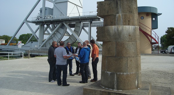 Pegasus Bridge Malcolm Clough and a small group