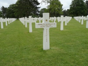 Omaha Beach D Day Tours Grave of Jimmie Monteith, US cemetery Colleville Sur Mer, Malcolm Clough