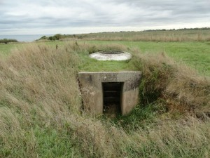 Omaha Beach tank turret emplacement,