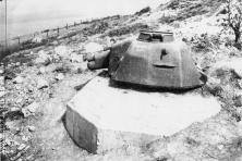 Renault Tank Turret on Omaha Beach Emplacement