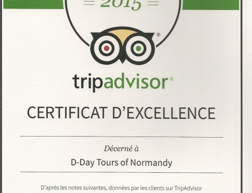 D-Day Tours TripAdvisor Certificate of Excellence