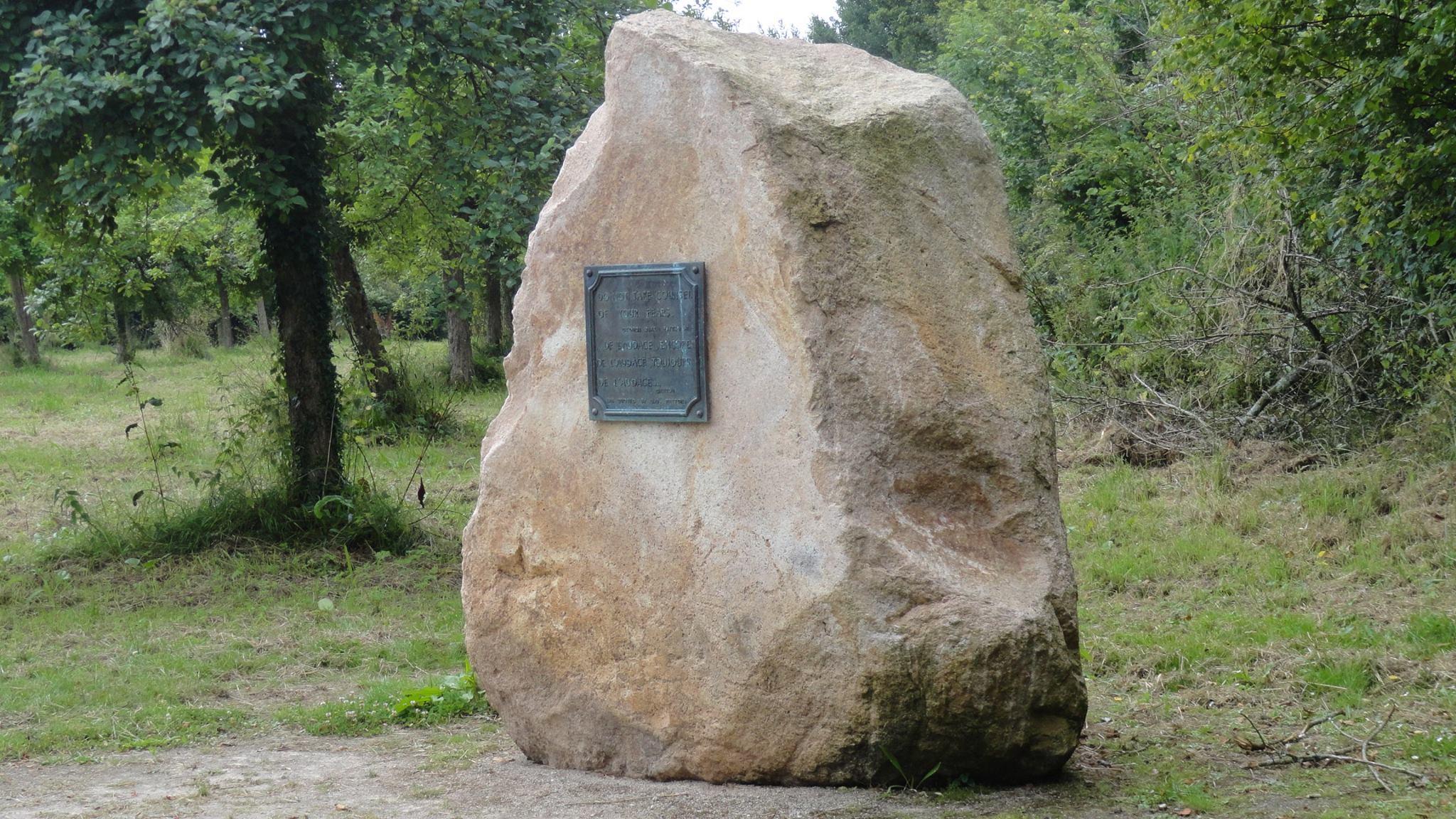 General Patton Memorial Plaque Normandy