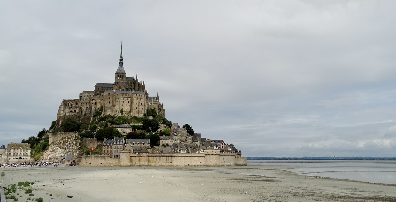 Mont St Michel Tide Out