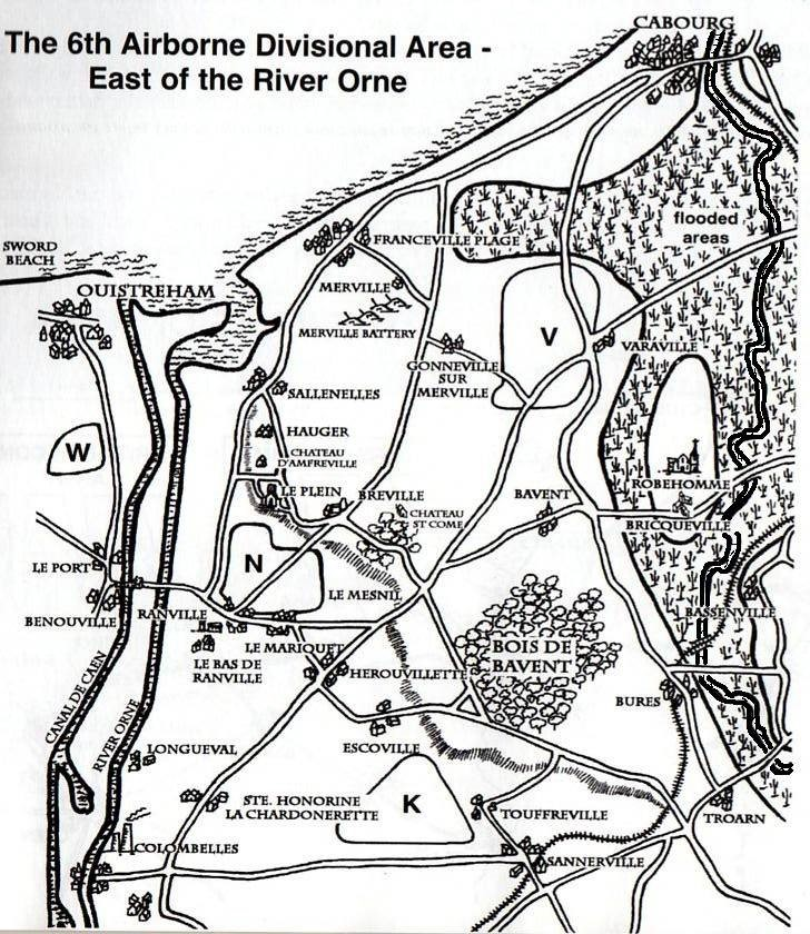 6th Airborne Divisional area, East of the River Orne