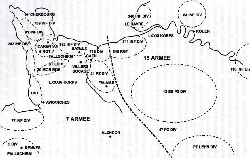 D Day positions German Army